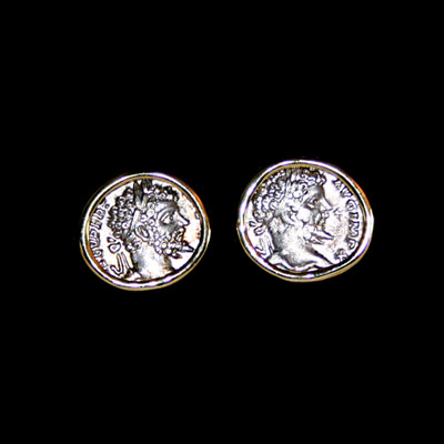 Coin Cufflinks with Siver coins of Emperor Septimius Severus
