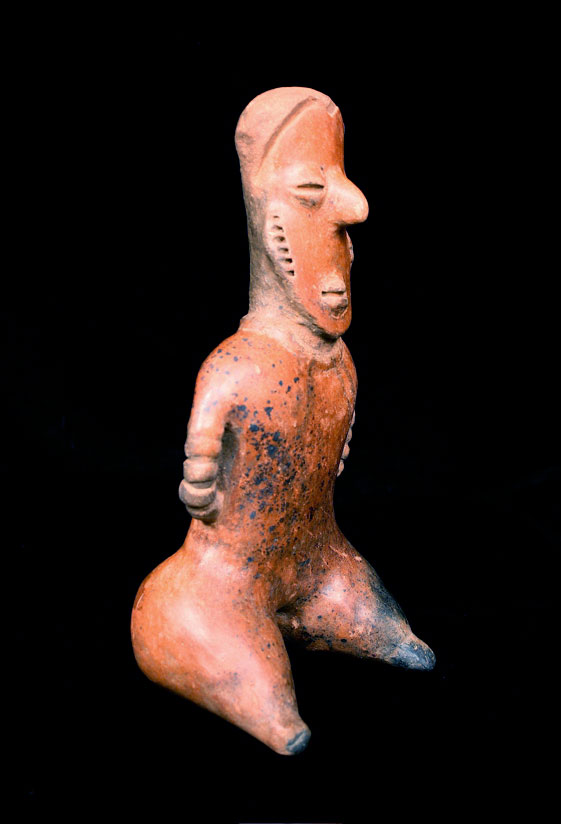 San Sebastián Style Nayarit Terracotta Sculpture of a Seated Figure