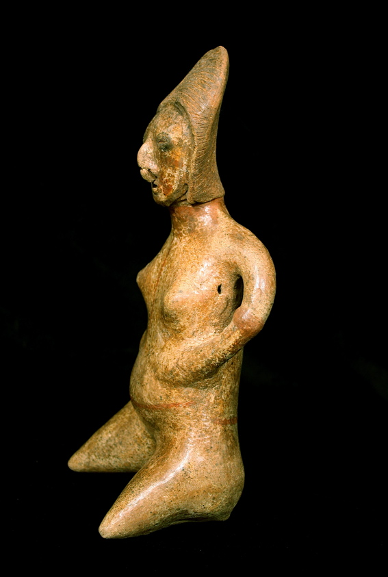 Chinesco Style (Type E) Nayarit Terracotta Sculpture of a Seated Woman