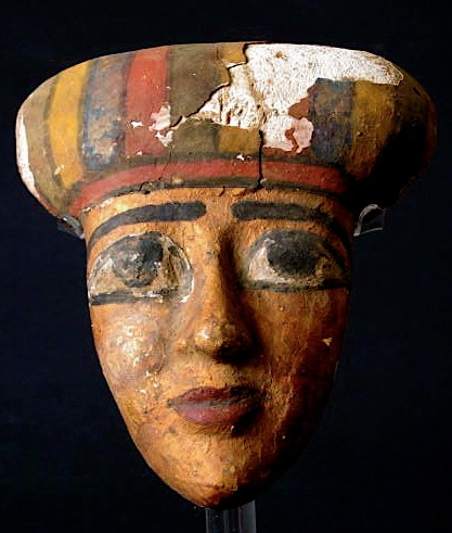 Egyptian Wooden Funerary Mask
