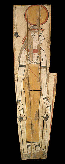Wooden Panel Depicting The Goddess Isis