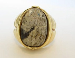 Egyptian Scarab Ring