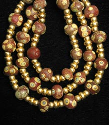 Phoenician Eye Glass Bead Necklace