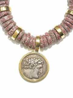 Necklace Set With A Silver Tetradrachm Of The Phoenician City of Tyre