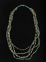 Five Strand Egyptian Faience  Bead Necklace