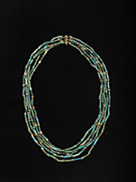 Five Strand Faience Bead Necklace