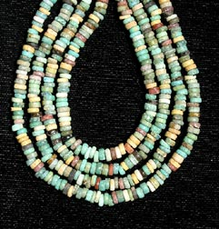 Four Strand Faience Bead Necklace