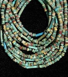 Six Strand Faience Bead Necklace