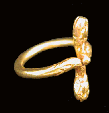 Greco-Roman Gold Ring in the Form of Two Serpents