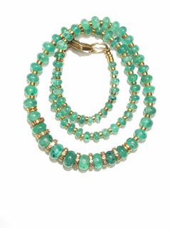 Necklace of Emerald Beads