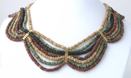 Egyptian Faience Beaded Necklace