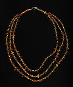 Ancient Egyptian Faience Bead and Amber Bead Necklace