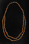 Necklace Of Egyptian Faience Beads Strung With Genuine Amber Beads.