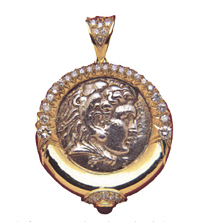 Gold Pendant Featuring a Silver Tetradrachm of King Philip III Arrhidaeus