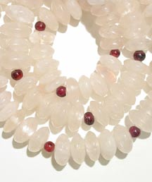 Rose Quartz Bead and Garnet Bead Necklace
