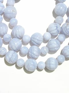 Chalcedony Bead Necklace