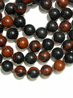 Golden Obsidian Bead Necklace