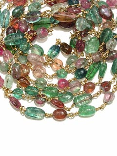 Necklace of Tourmaline Beads