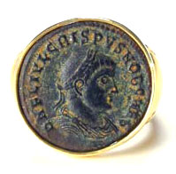 Bronze coin of Crispus