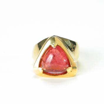 Triangular-Shaped Pink Tourmaline