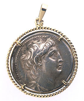 Greek Silver Tetradrachm of King Antiochus VII