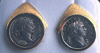 Two Silver Denarii of the Roman Emperor Trajan