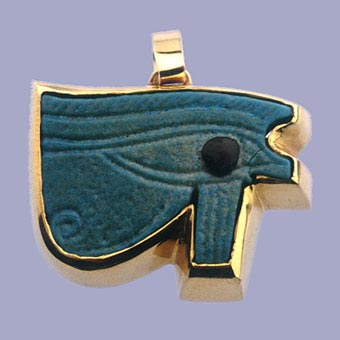 Egyptian Faience Sacred Eye of  Horus Amulet