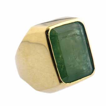 Emerald Ring Set in 18-karat Gold