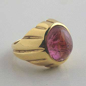 Ring of Pink Tourmaline