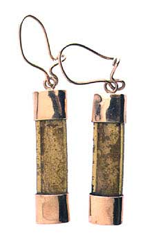 Roman Glass Fragment Set in a Pendant  Earrings
