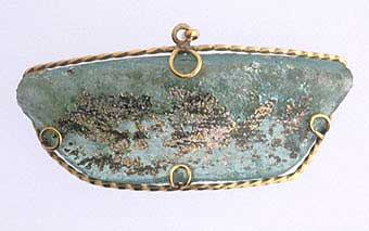Roman Glass Fragment Set in Pendant