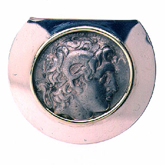 Silver Money Clip Featuring a Silver Tetradrachm of King Lysimachus