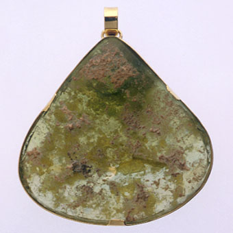 Pendant of Roman Glass Fragment