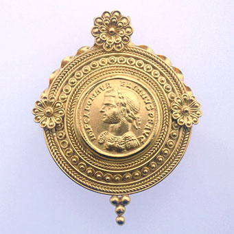 Classical Revival Gold Pendant