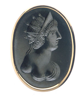 Hematite Intaglio depicting a Roman Empress