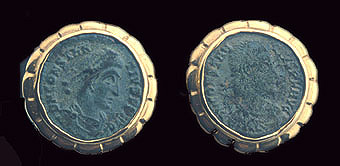 Two Coins of Roman Emperor Constantius I