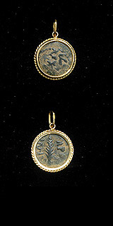 Gold Pendant with Bronze Coin of Antonius Felix, the Roman Procurator of Judea