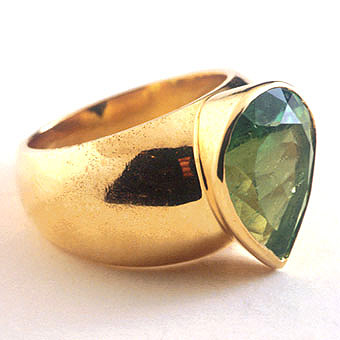 Pear Shaped Columbian Emerald Ring