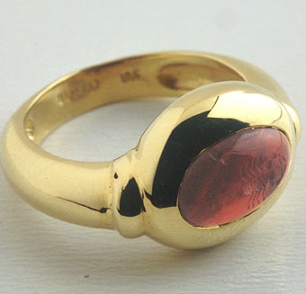 Ancient Roman Garnet Intaglio of a Scorpion