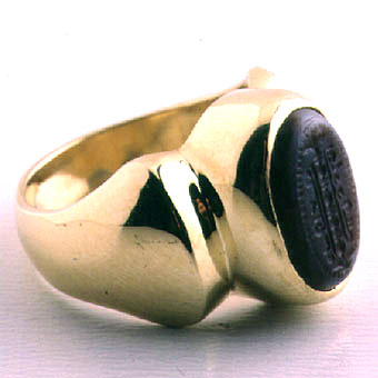 Banded Agate Seal Ring