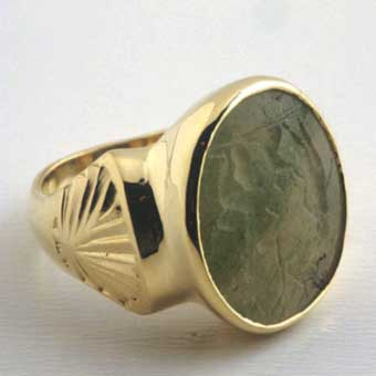 Roman  Seal Mounted In An 18 Karat Gold Ring