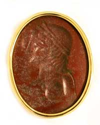 Roman Intaglio Depicting the Bust of Antinous