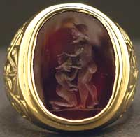 Classical Revival Intaglio of a Homosexual Couple