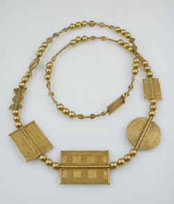Akan Gold Bead Necklace