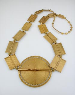 Akan Gold Beaded Necklace