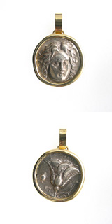 Gold Pendant with Silver Stater of Rhodes