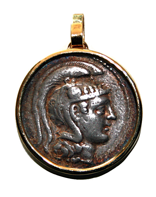 Gold Pendant with Athenian Silver Tetradracm