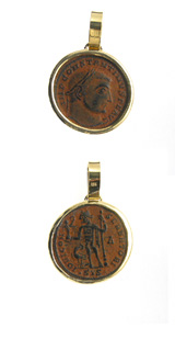 Gold Pendant with Bronze Coin of Emperor Constantine I the Great