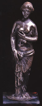 Roman Silver Sculpture of Venus