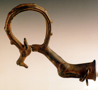 Luristan Whetstone Socket in the Form of an Ibex